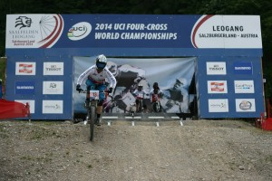 Our General Manager, Cara, at the 2014 4x World Championships in Leogang