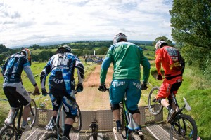 The 'Start Gate'.... riders ready
